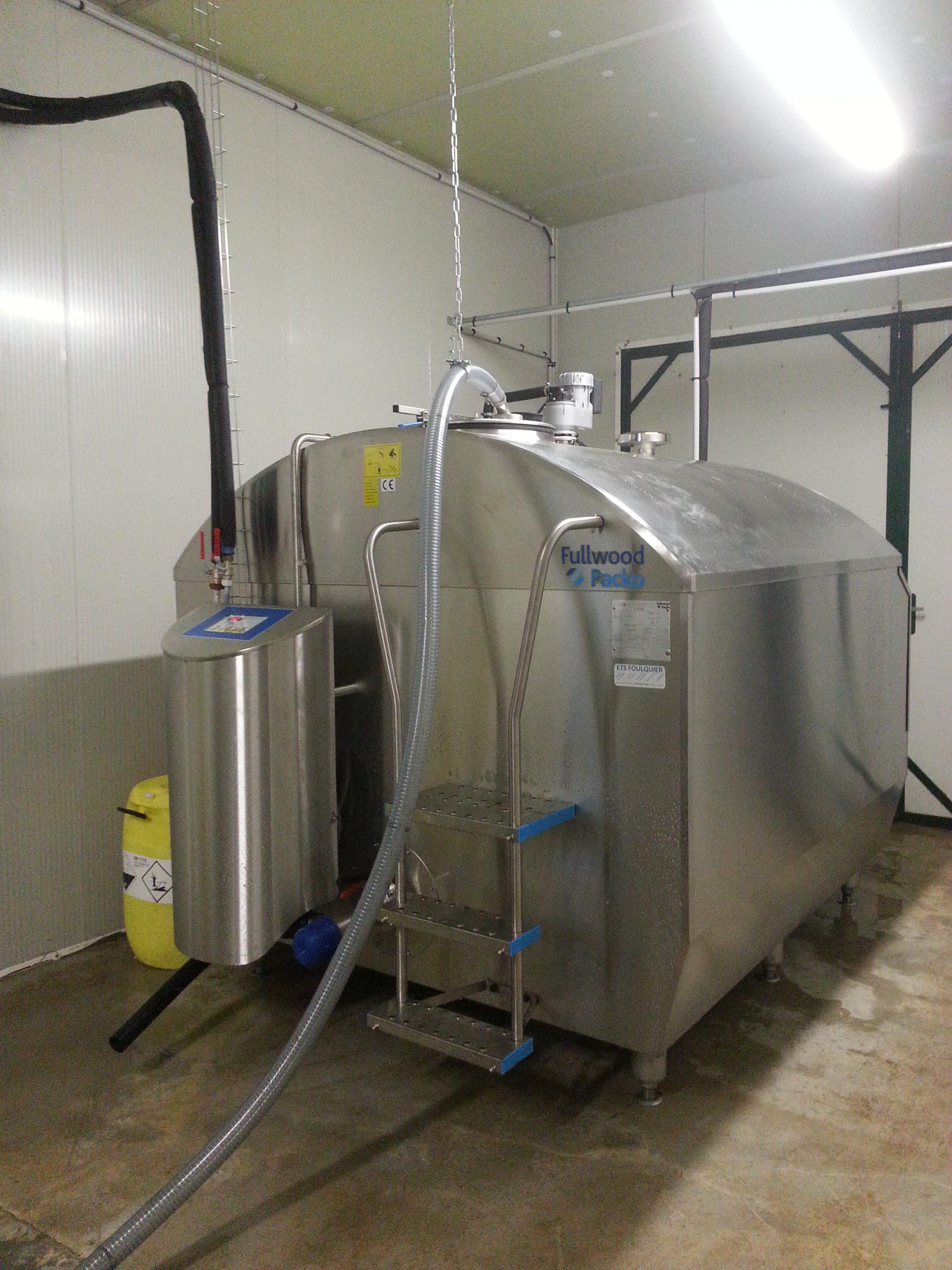 Tank lait eau glacee 1 ets foulquier traite tarn aveyron