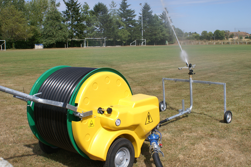 enrouleur perrot stade ETS FOULQUIER irrigation Tarn Aveyron