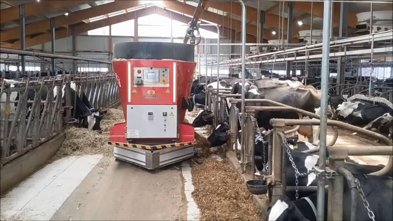 Alimentation des élevages automatisée grâce au Rovibec 2 vendu par Ets Foulquier dans le Tarn et l'Aveyron